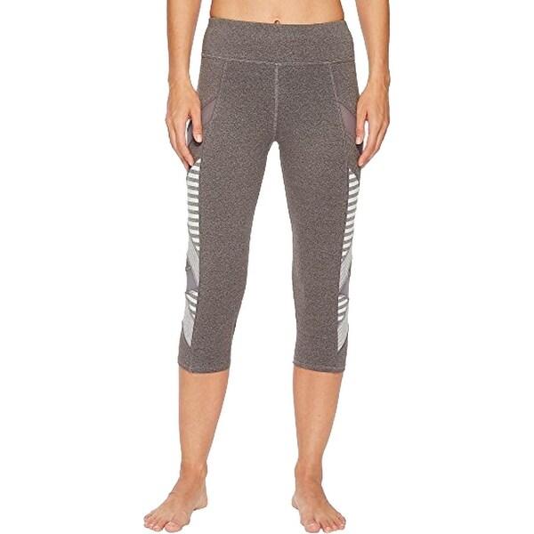 Splendid Women's Striped Colorblock Activewear Capri Fitness Leggings. Opens flyout.