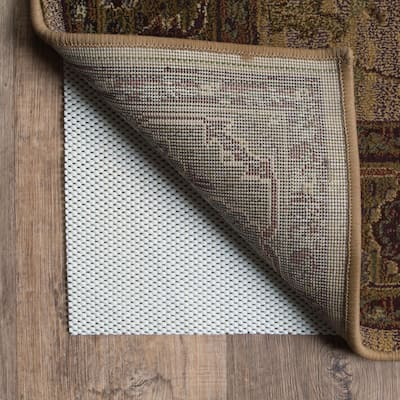 Comfort Hold White PVC-coated Knit Polyester Rug Pad - Beige