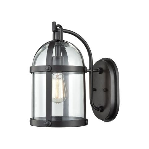 Birdcage One Light Outdoor Wall Sconce with Transitional Style - Exposed Bulb Porch Light