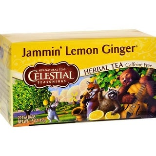 Celestial Seasonings - Jammin Lemon Ginger Caffeine Free Herbal Tea ( 6 - 20 BAG)