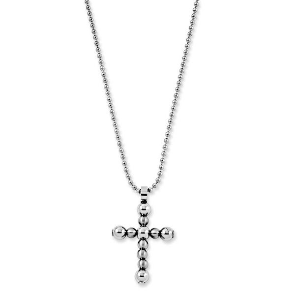 Chisel Stainless Steel Cross Pendant Necklace (2 mm) - 22 in