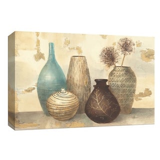 """PTM Images 9-153698  PTM Canvas Collection 8"""" x 10"""" - """"Vessel Still Life I"""" Giclee Flowers Art Print on Canvas"""
