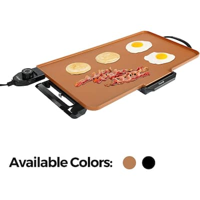 Caynel 24''x12'' Cool-Touch Electric Griddle with Non-Stick Coating