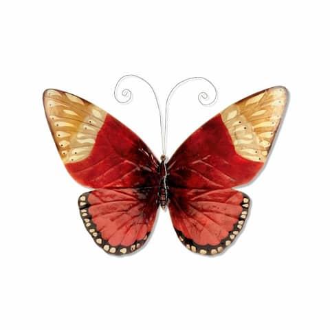 Handmade Red Butterfly Wall Art