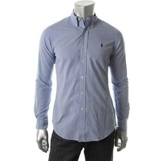 Polo Ralph Lauren Mens Plaid Long Sleeves Button-Down Shirt - L