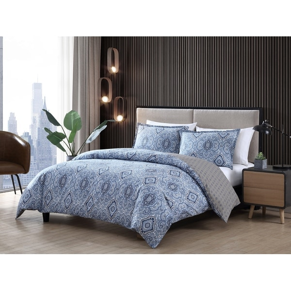 City Scene Milan Blue Comforter Set. Opens flyout.