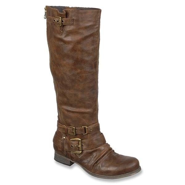 Carlos by Carlos Santana Womens HANNA2 Almond Toe Mid-Calf Fashion Boots