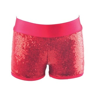 Reflectionz Girls Red Sequin Shorts