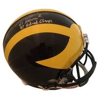 Charles Woodson Autographed Michigan Wolverines Football Signed Authentic Full Size Helmet 1997 Hei