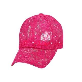 Sequin Lace Glitter Adjustable Baseball Cap