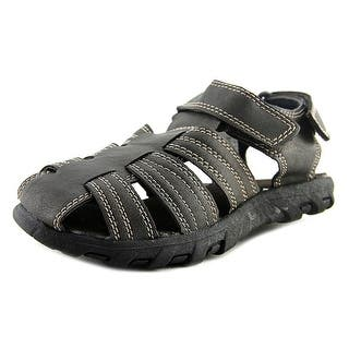 Max + Jake Ben Round Toe Synthetic Fisherman Sandal|https://ak1.ostkcdn.com/images/products/is/images/direct/f439c4e8eb2d6dc21491e802719e9ded9f746666/Max-%2B-Jake-Ben-Youth-Round-Toe-Synthetic-Brown-Fisherman-Sandal.jpg?impolicy=medium