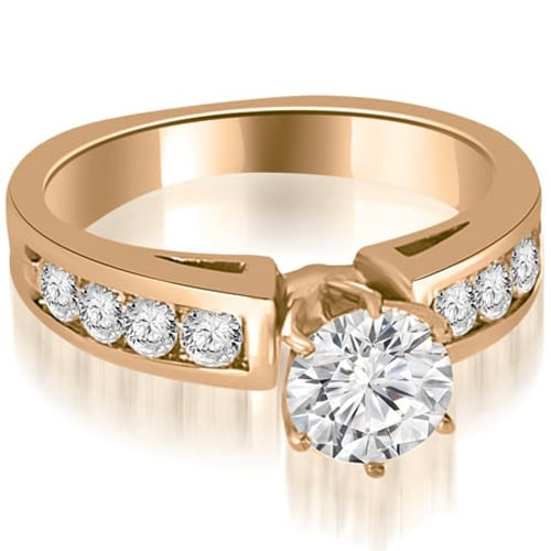 1.40 cttw. 14K Rose Gold Round Cut Diamond Engagement Ring