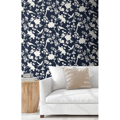 Luxe Haven Mono Toile Peel and Stick Wallpaper