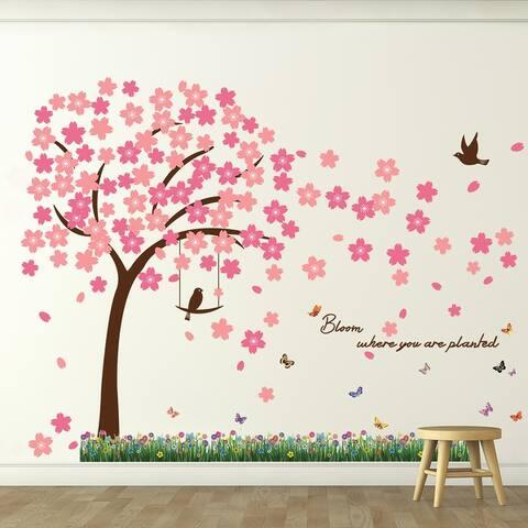 Walplus Spring Blossom Grass Children Kids Wall Sticker Nursery Decor