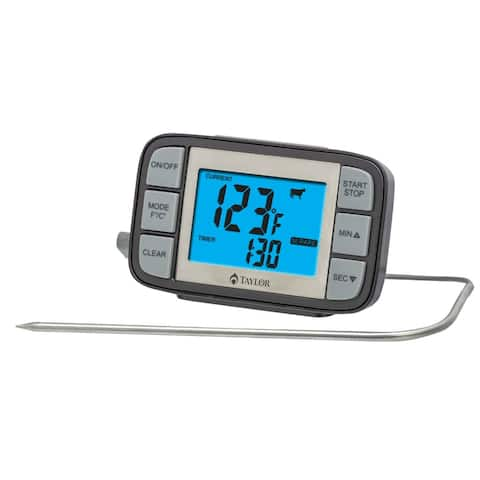 Taylor 808GW Grillworks Digital Grill Thermometer with Probe Plus Timer