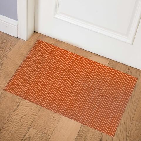 LINEAR TERRACOTTA Indoor Door Mat By Kavka Designs