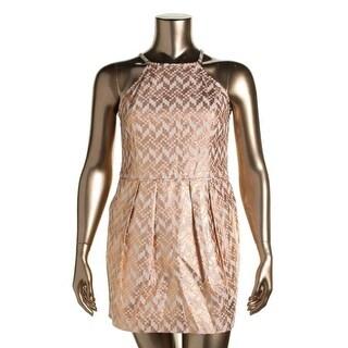 Rachel Rachel Roy Womens Foiled Sleeveless Cocktail Dress - XL