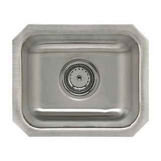 "Sterling UCL1515B SpringDale 14-1/4"" Single Basin Undermount Stainless Steel Bar - Stainless Steel"