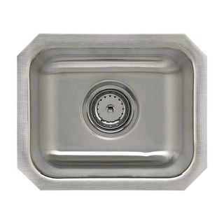 "Sterling UCL1515B SpringDale 14-1/4"" Single Basin Undermount Stainless Steel Bar"