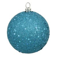 """12"""" Turquoise Sequin Finish Ball"""
