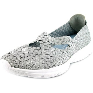 Easy Spirit Quest Women W Round Toe Canvas Silver Sneakers