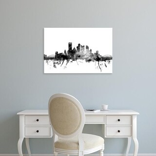 Easy Art Prints Michael Tompsett's 'Pittsburgh Pennsylvania Skyline' Premium Canvas Art