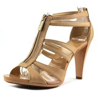 4282275eb Michael Michael Kors Berkley T Strap Women Open Toe Leather Platform Heel