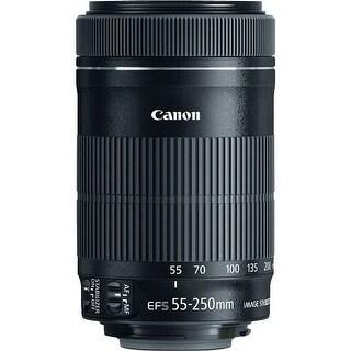 Canon EF-S 55-250mm f/4-5.6 IS STM Zoom Lens - Black