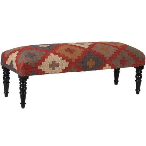 """Handmade Upholstered Wooden Bench - 48"""" W x 16"""" L x 18"""" H"""