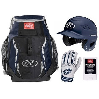 Rawlings Baseball Ready Bundle (Navy)