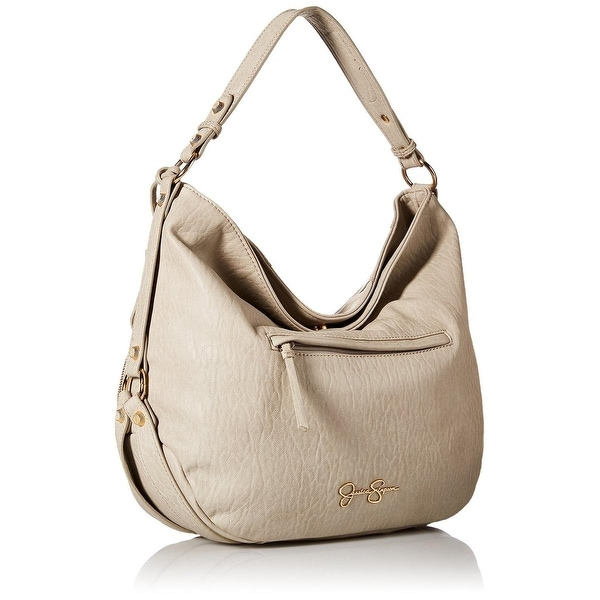 Jessica Simpson Womens Kendall Hobo Handbag Faux Leather Lined - Large