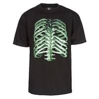 Mens Neon Skeleton Short-Sleeve T-Shirt - Black