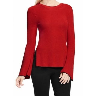 Vince Camuto NEW Red Womens Size Medium PM Petite Bell Sleeve Sweater
