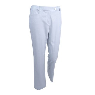 Calvin Klein Women's Petite Textured Straight-Leg Pants (14P, Serene Multi) - serene multi - 14P