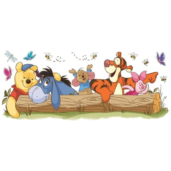 York Wallcoverings RMK2553GM Winnie the Pooh - Pooh & Friends Outdoor Fun Peel and Stick Giant Wall Decals - multi - N/A