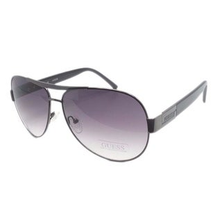 Guess GUF 121 GUN-35A Men's Aviator Designer Gunmetal Frame Sunglasses