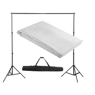 vidaXL White Backdrop Support System 10 x ft