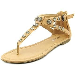 Report Gizelle Women Open Toe Synthetic Thong Sandal