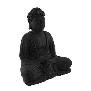Volcanic Stone Meditating Buddha Incense Holder Statue