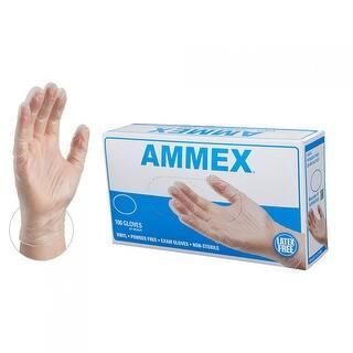 AMMEX Clear Vinyl Exam Latex Free Disposable Gloves (Case of 1000)|https://ak1.ostkcdn.com/images/products/is/images/direct/f445fb7e4e5a050206b7f87f0756732b2e078a0c/Clear-Vinyl-Exam-Powder-Free-Gloves-Box-of-100.jpg?impolicy=medium