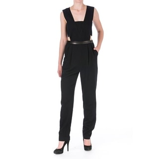Sea New York Womens Jumpsuit Leather Trim Cut-Out - 4