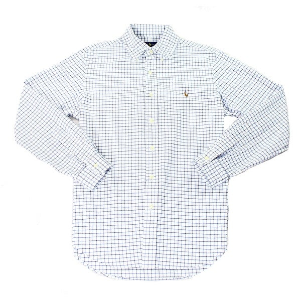 e498e33f Ralph Lauren NEW Blue White Mens Size 2XL Plaid Button Down Shirt