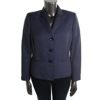 Le Suit Womens Polyester Collared Three-Button Blazer - 10