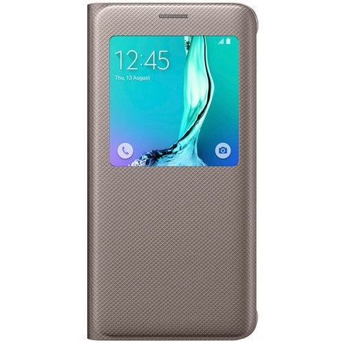 Samsung S-View Flip Cover for Samsung Galaxy S6 Edgeplus - Gold S-View Flip Cover