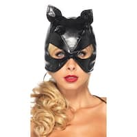 Bondage Cat Mask, Bondage Mask - Black - One Size Fits most