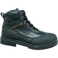 Genuine Grip Footwear  Waterproof Steel Toe Black Leather