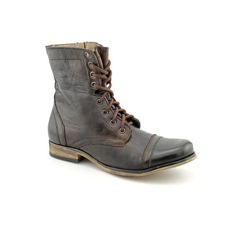 Steve Madden Troopa Men Round Toe Leather Brown Boot