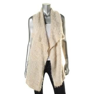 Kensie Womens Eyelash Open Front Cardigan Sweater - XS