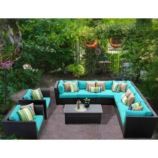 Miseno MPF-BRBD10A Caribbean 10-Piece Aluminum Framed Outdoor Conversation Set w (More options available)