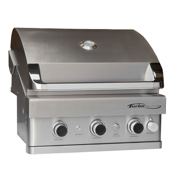 Barbeques Galore Turbo Elite 3 Burner Built In Gas Grill